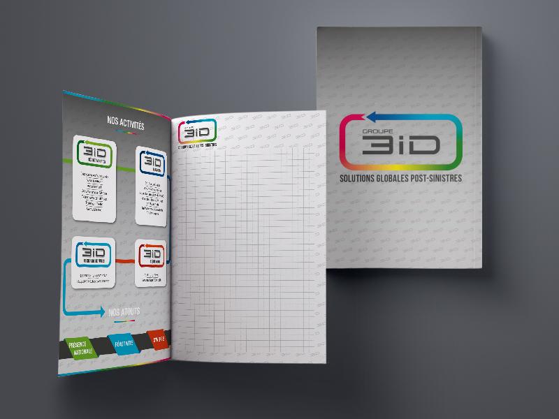 création bloc-notes, 3iD | Travail Associé Agence Communication Lyon et Valence
