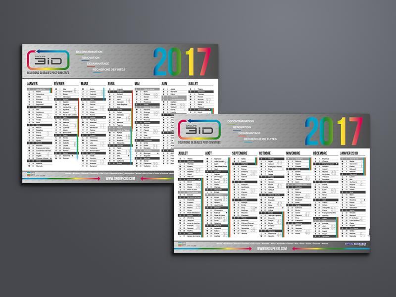 création calendrier, 3iD | Travail Associé Agence Communication Lyon et Valence