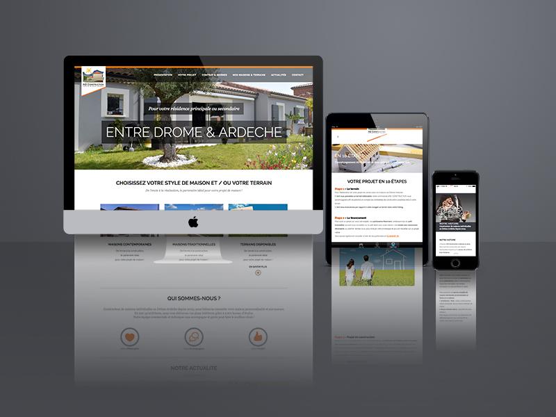création site web, AD Construction | Travail Associé Agence Communication Lyon et Valence