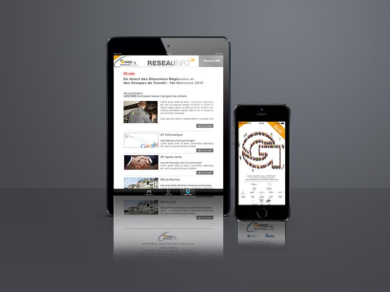 création application mobile, Gaap | Travail Associé Agence Communication Lyon et Valence