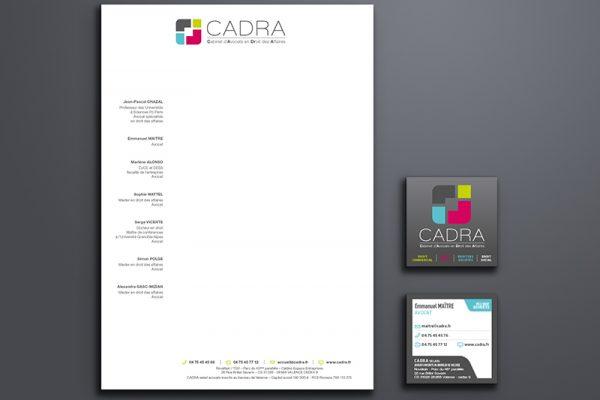 création papèterie, Cadra | Travail Associé Agence Communication Lyon et Valence