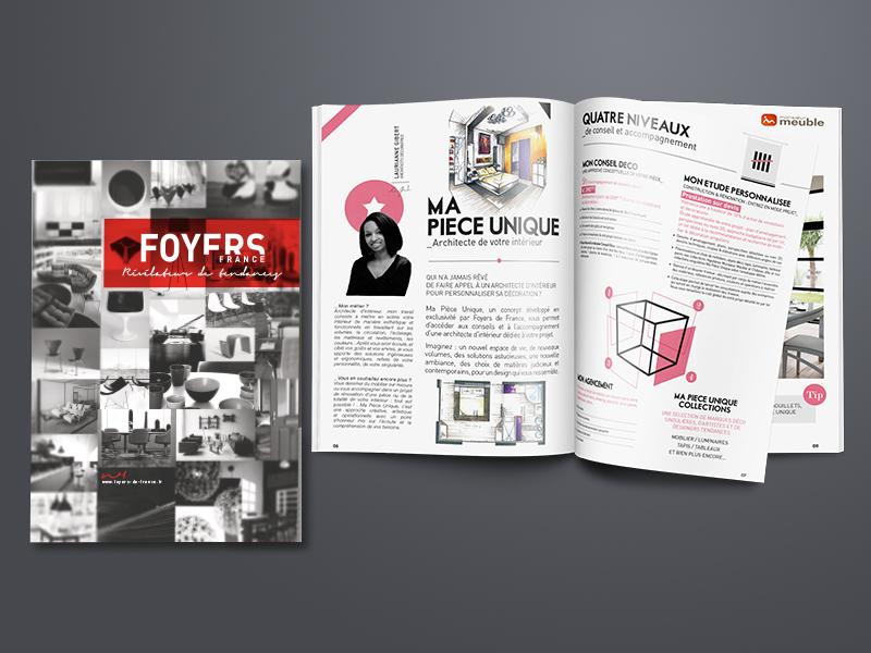 création catalogue, Foyers de France | Travail Associé Agence Communication Lyon et Valence
