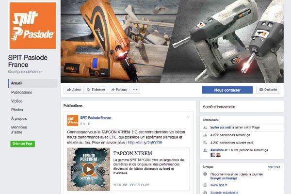 Spit Paslode France en mode digital et réseaux sociaux