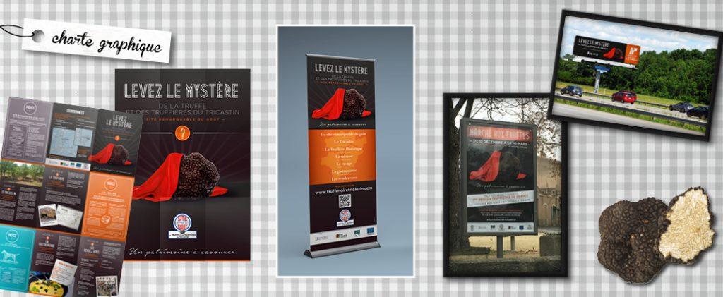 Truffe noir du tricastin - travail associe - campagne publicitaire