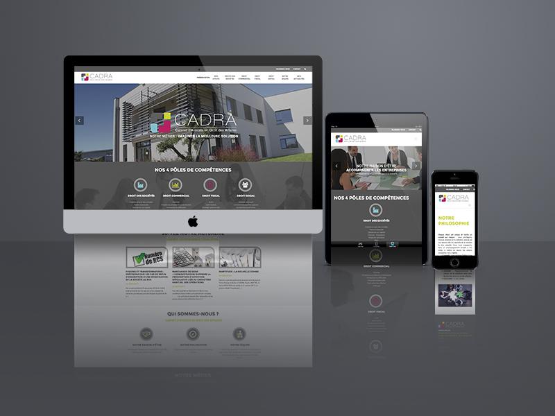 création site web, Cadra | Travail Associé Agence Communication Lyon et Valence