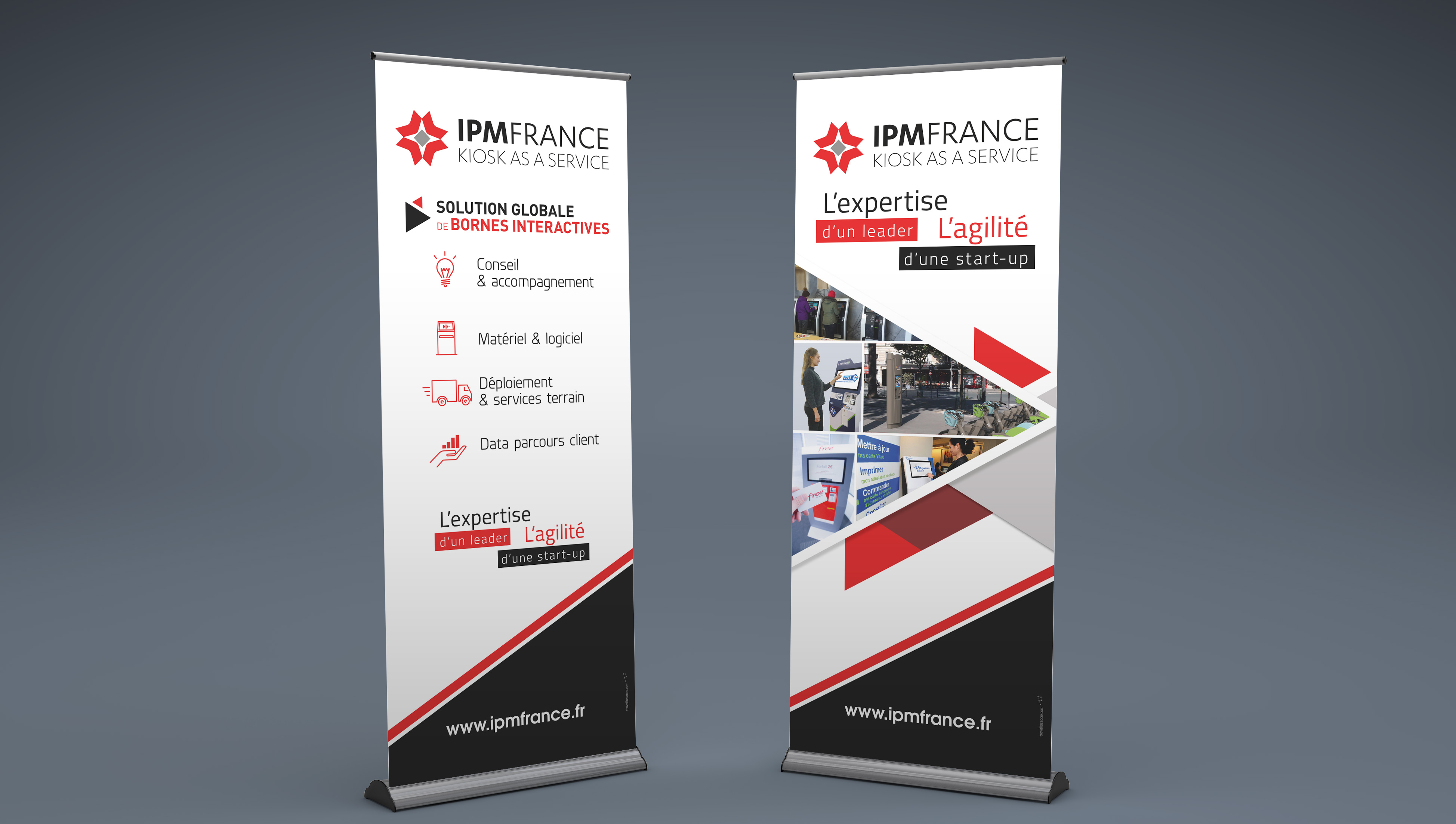 Création Roll Up - Salon - IPM FRANCE